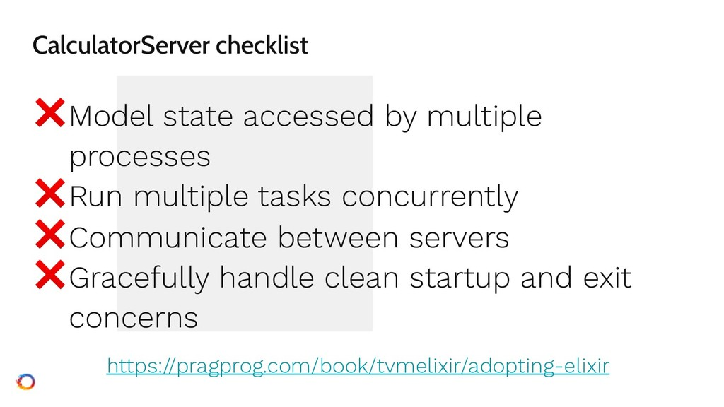 CalculatorServer checklist ❌Model state accesse...