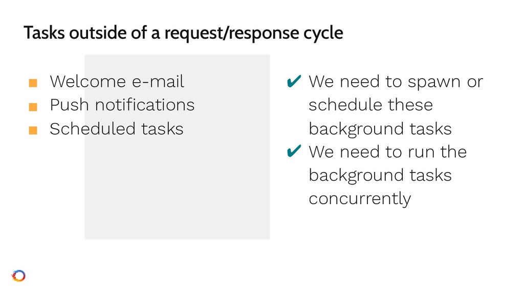 Tasks outside of a request/response cycle ■ Wel...