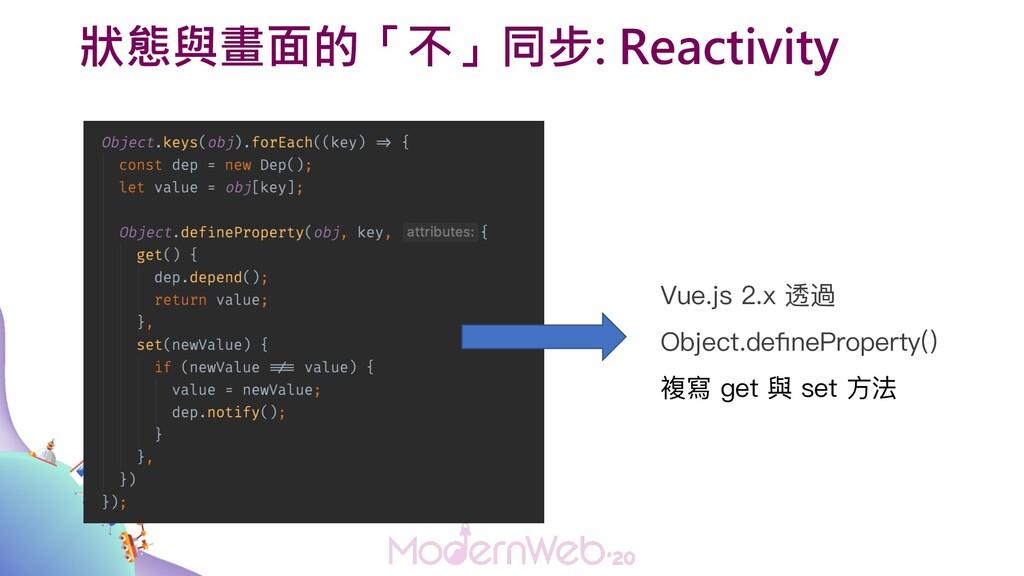 狀態與畫面的「不」同步: Reactivity Vue.js 2.x 透過 Object.de...