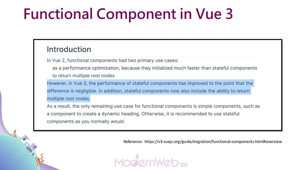 Functional Component in Vue 3 Reference: https:...