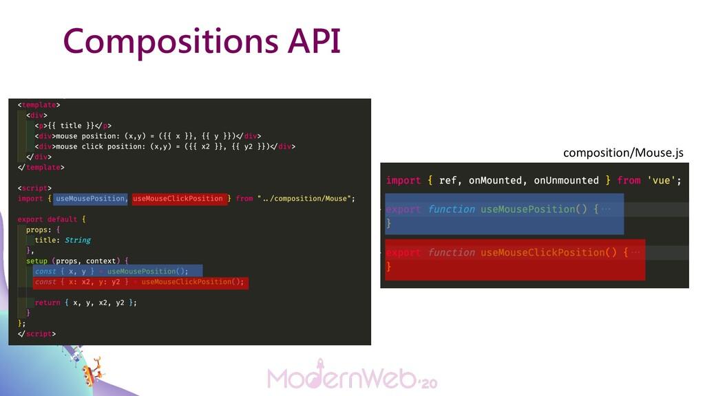 Compositions API composition/Mouse.js