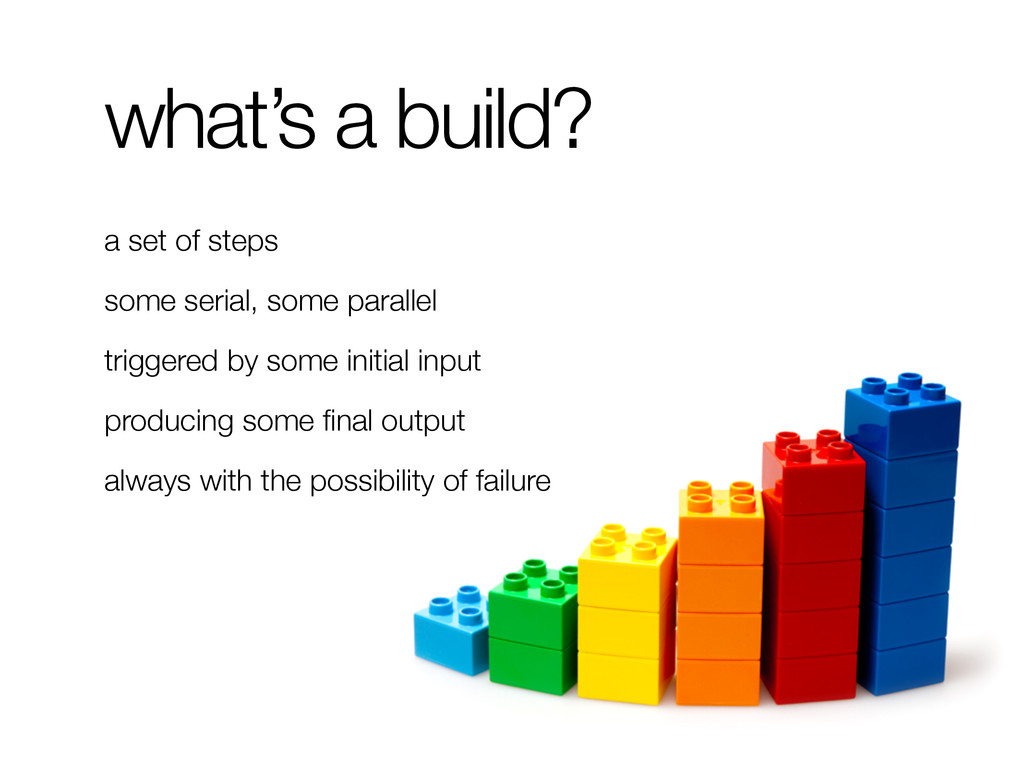 what's a build? a set of steps some serial, som...