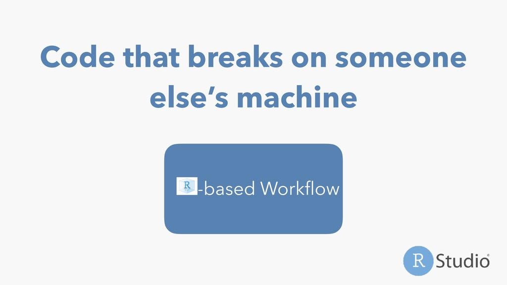 Code that breaks on someone else's machine -bas...