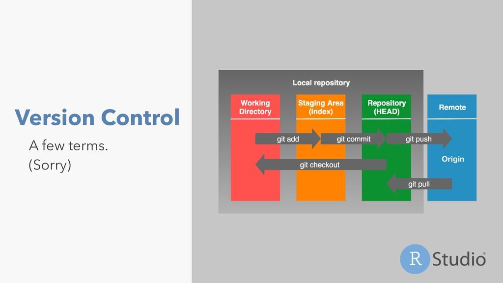 Version Control A few terms. (Sorry) Origin