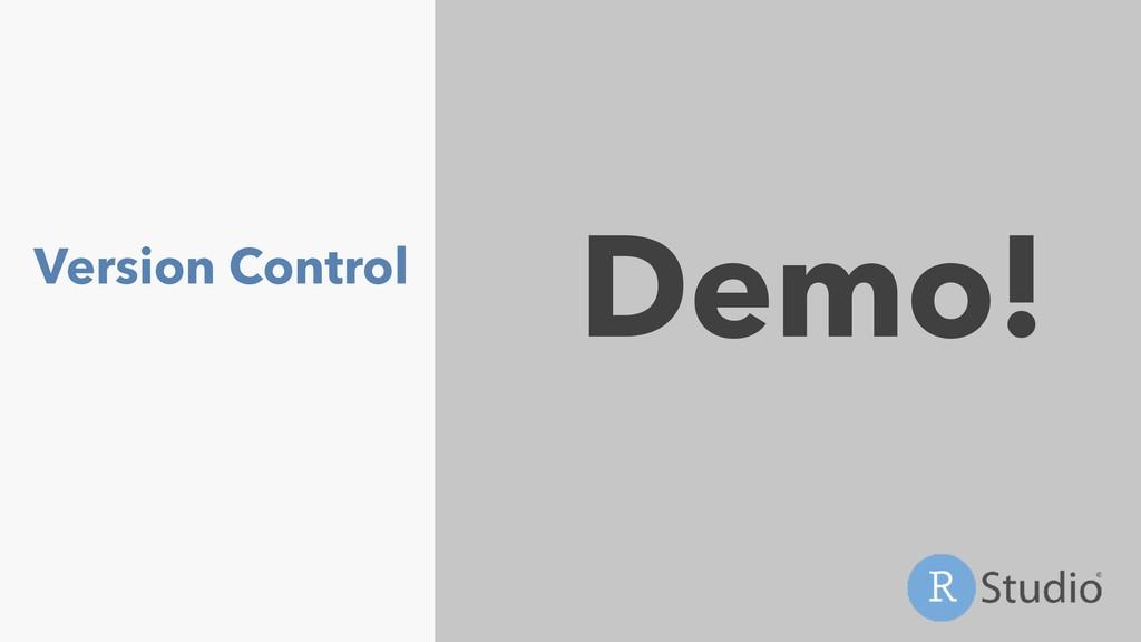 Version Control Demo!