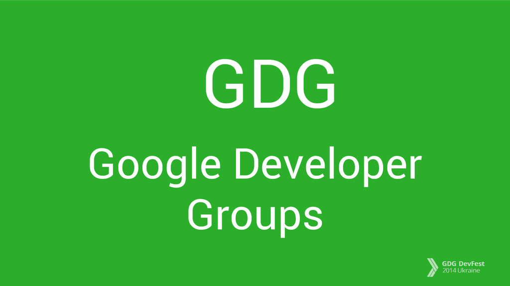 GDG Google Developer Groups