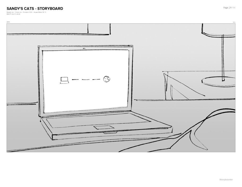 SANDY'S CATS - STORYBOARD Boards: 44 | Shots: 4...