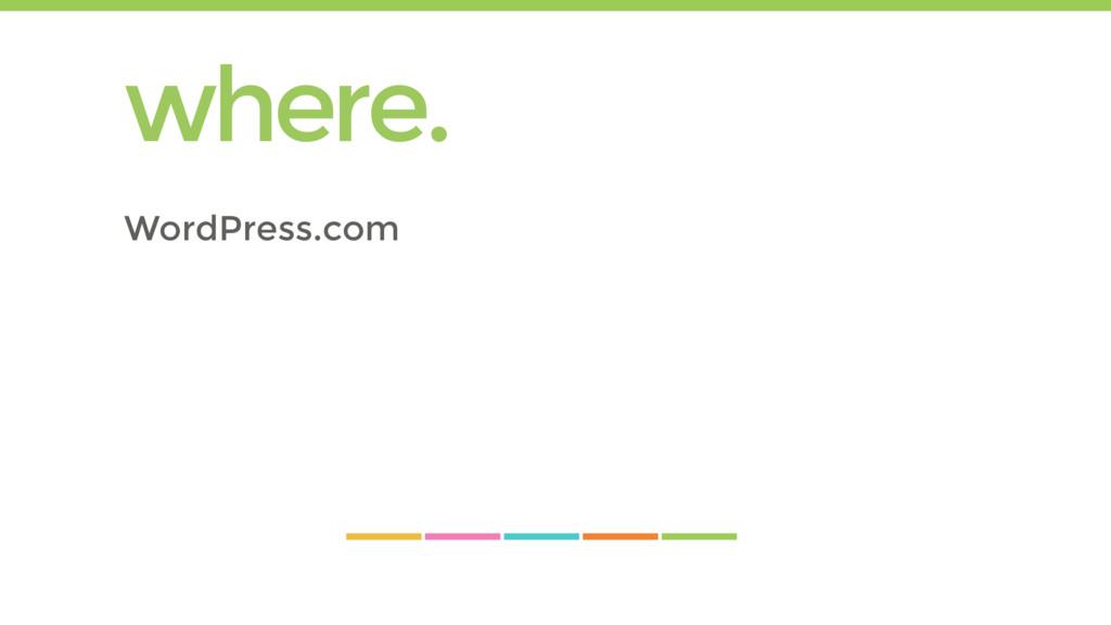 where. WordPress.com