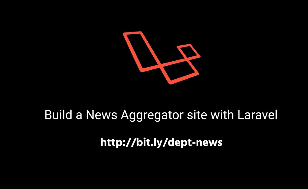 Build a News Aggregator site with Laravel http:...