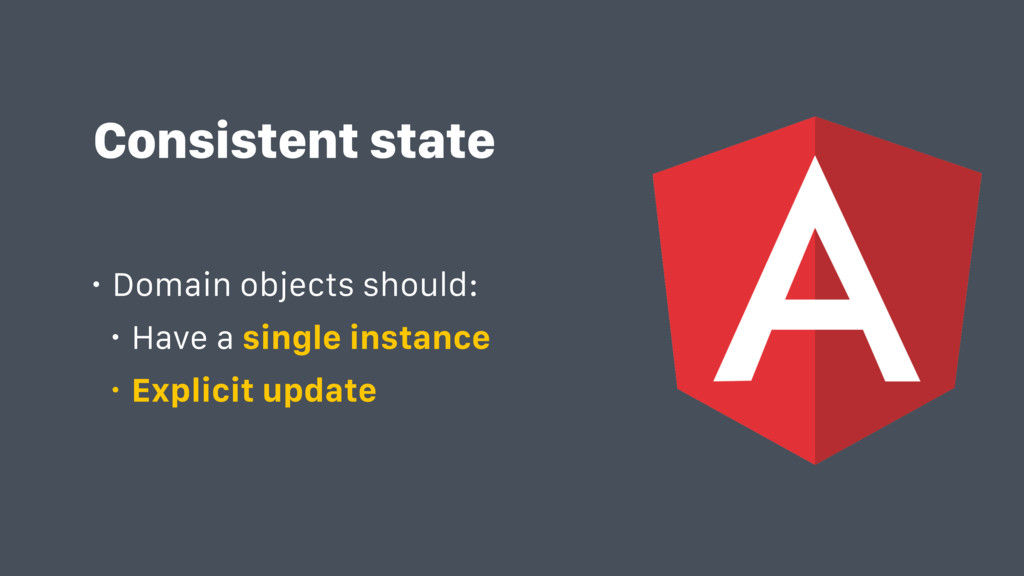 Consistent state • Domain objects should: • Hav...
