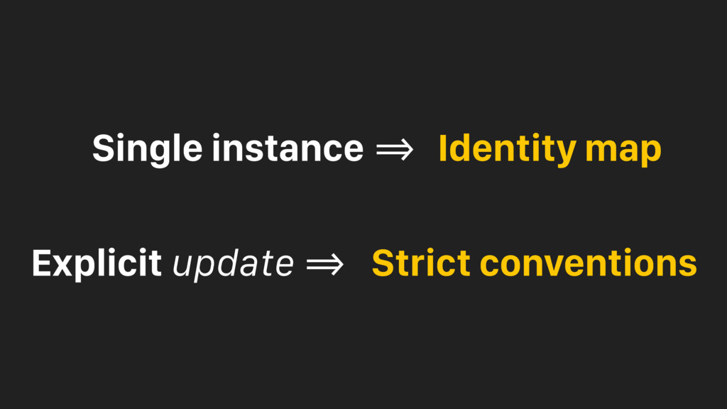 Single instance !=> Identity map Explicit updat...