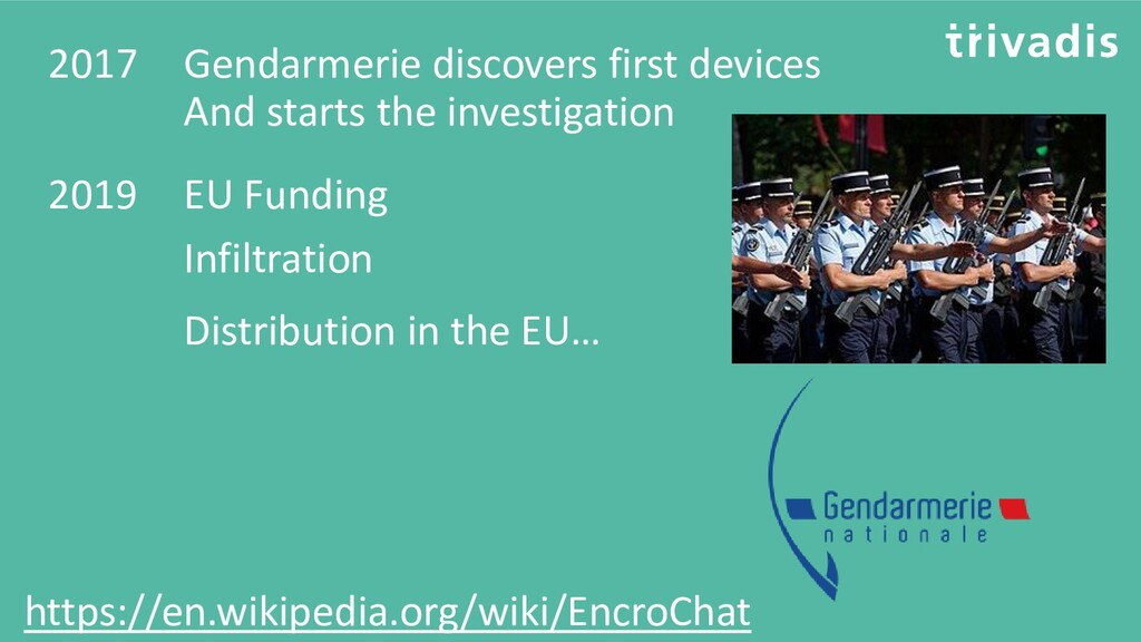 2017 Gendarmerie discovers first devices And st...
