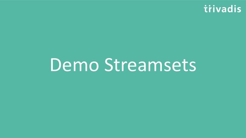Demo Streamsets
