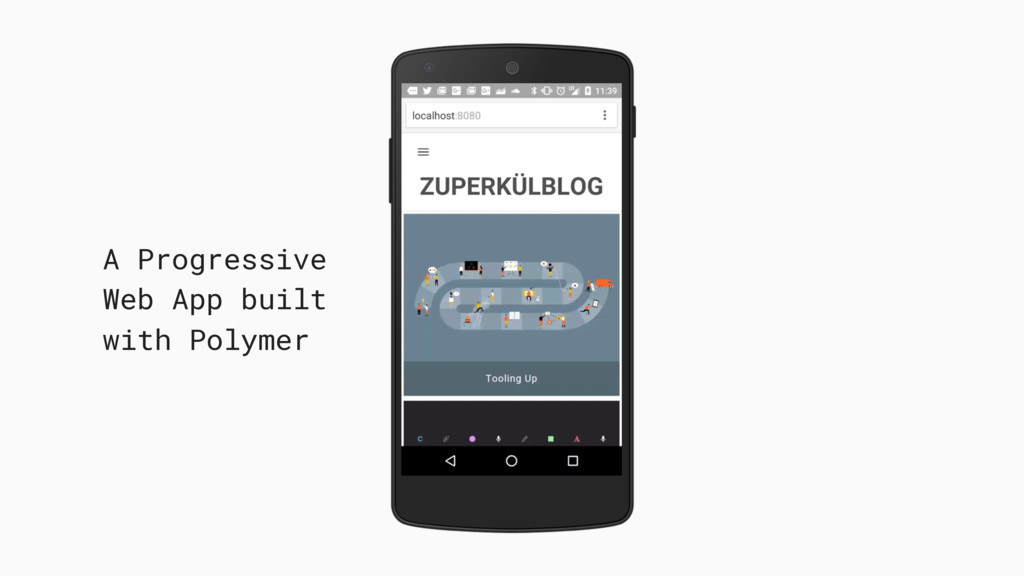 A Progressive Web App built with Polymer