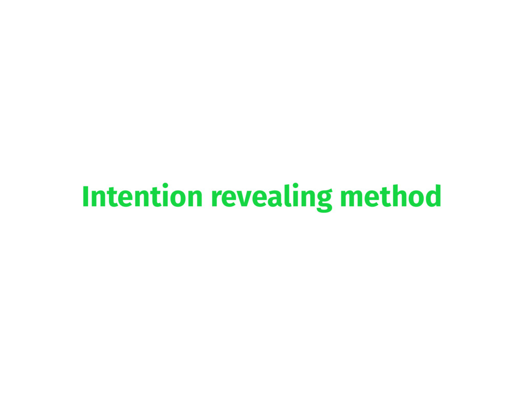 Intention revealing method