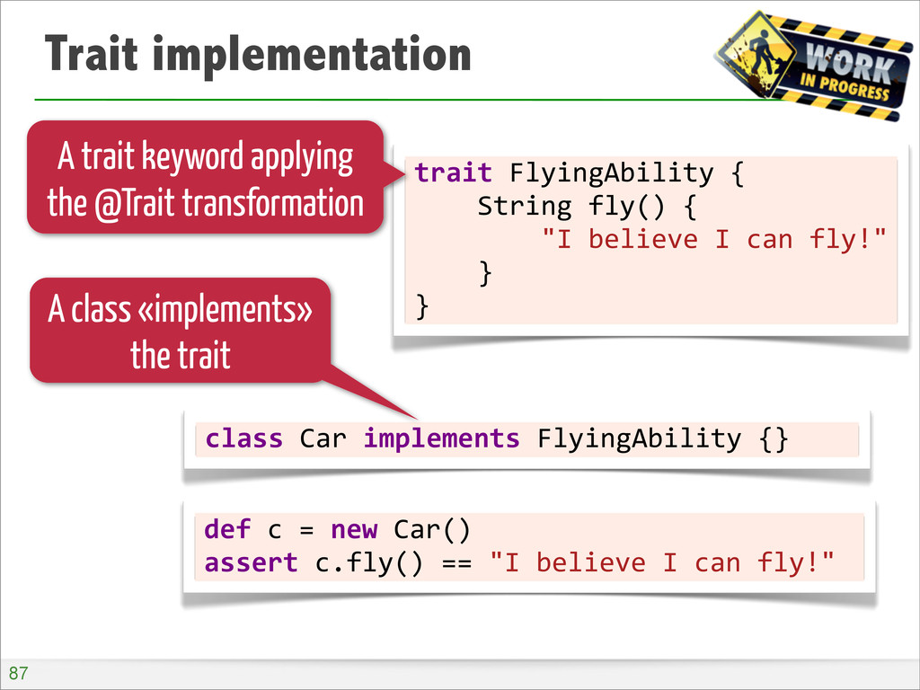 Trait implementation trait	