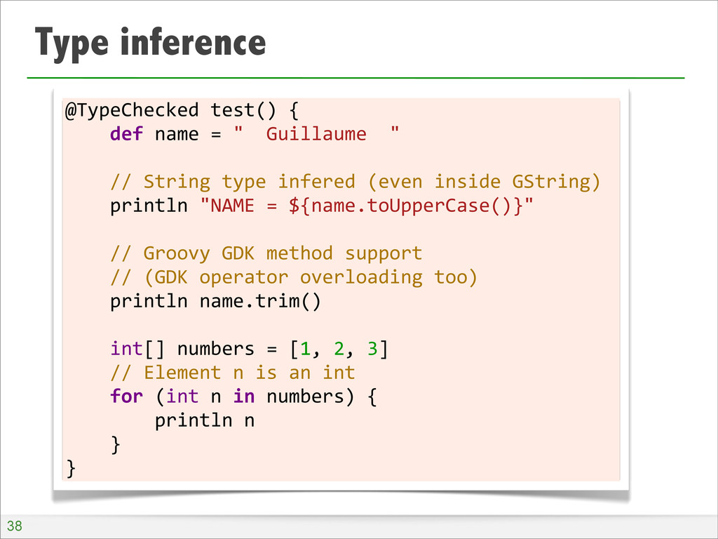 Type inference @TypeChecked	