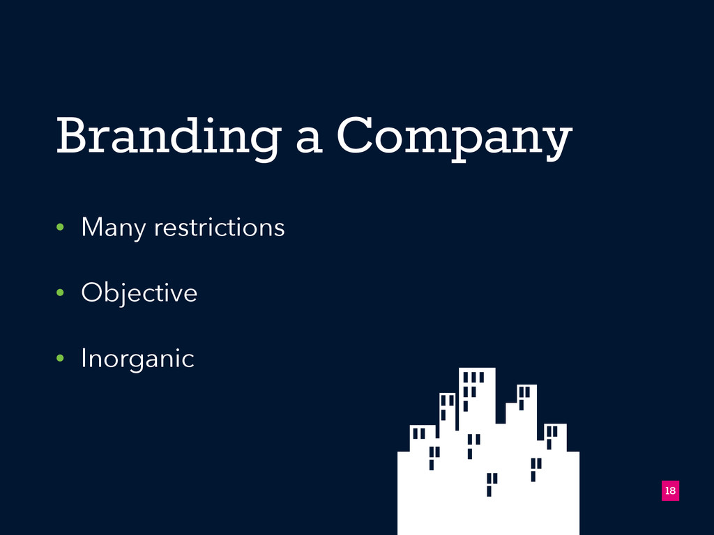 Branding a Company • Many restrictions • Object...