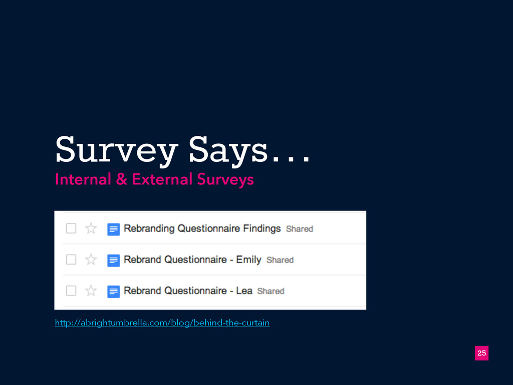 Survey Says… !25 Internal & External Surveys ht...