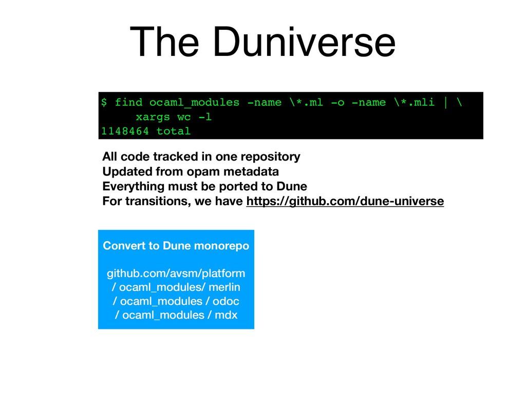 The Duniverse Convert to Dune monorepo github.c...