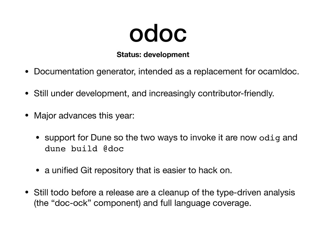odoc • Documentation generator, intended as a r...
