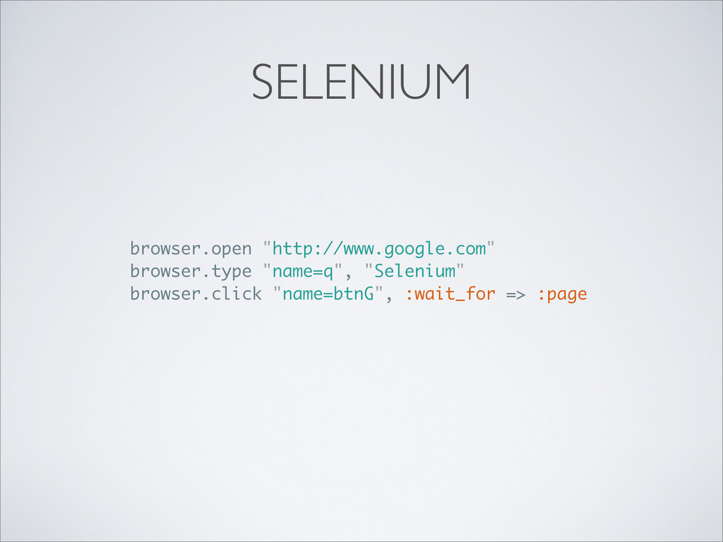 "SELENIUM browser.open ""http://www.google.com"" b..."