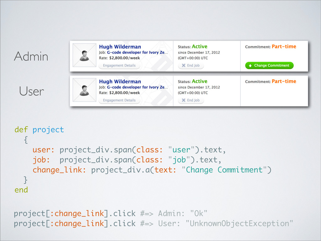 Admin User def project { user: project_div.span...