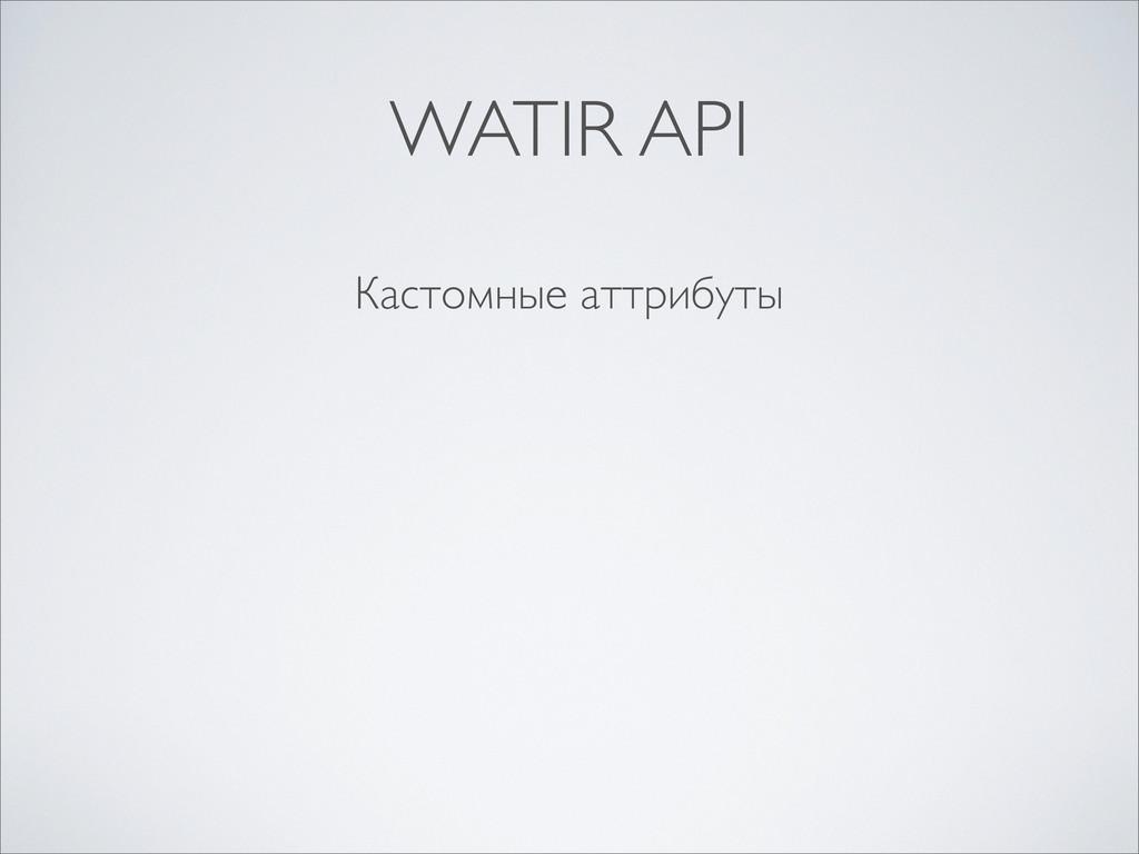 Кастомные аттрибуты WATIR API