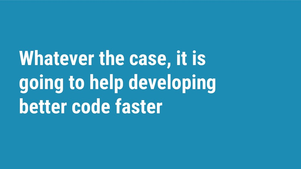 Whatever the case, it is going to help developi...