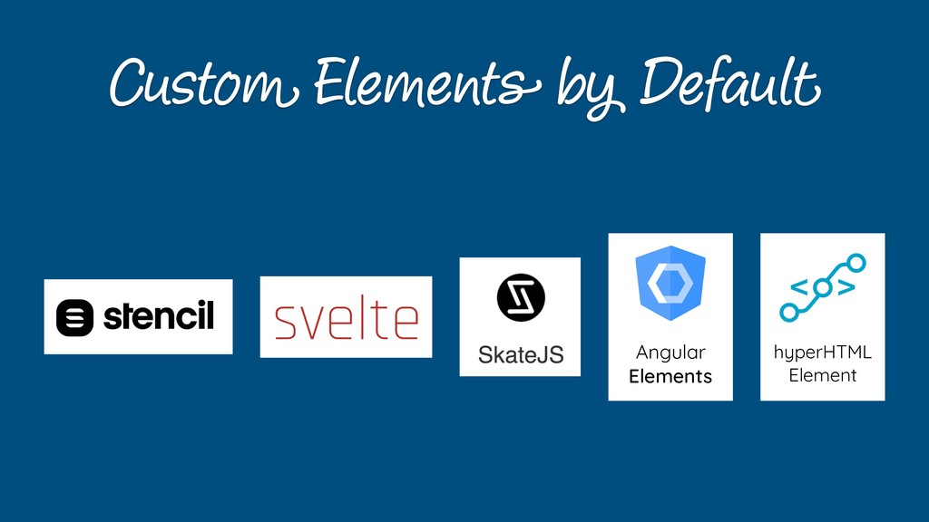 Custom Elements by Default Angular