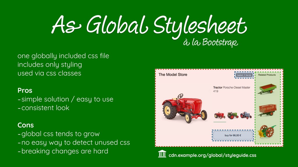 As Global Stylesheet one globally included css ...