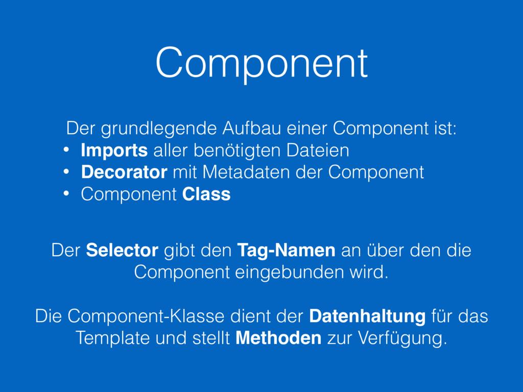 Component Der grundlegende Aufbau einer Compone...