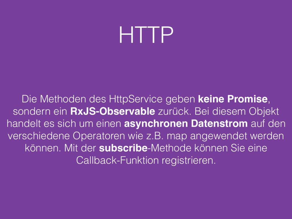 HTTP Die Methoden des HttpService geben keine P...