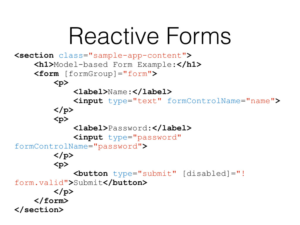 "Reactive Forms <section class=""sample-app-conte..."