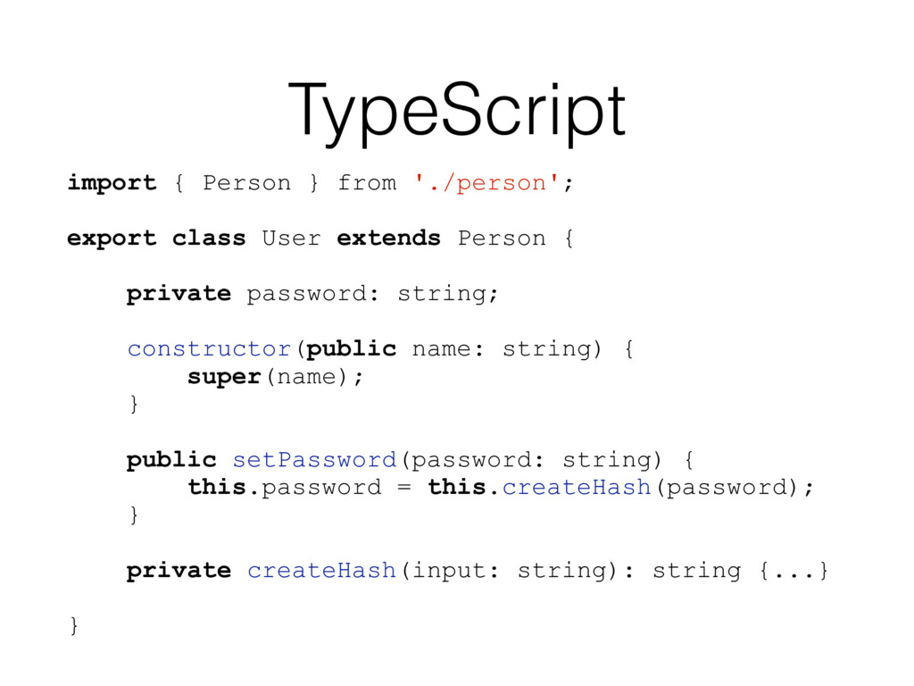 TypeScript import { Person } from './person'; e...