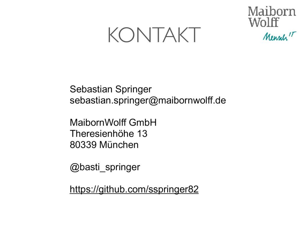 KONTAKT Sebastian Springer sebastian.springer@m...