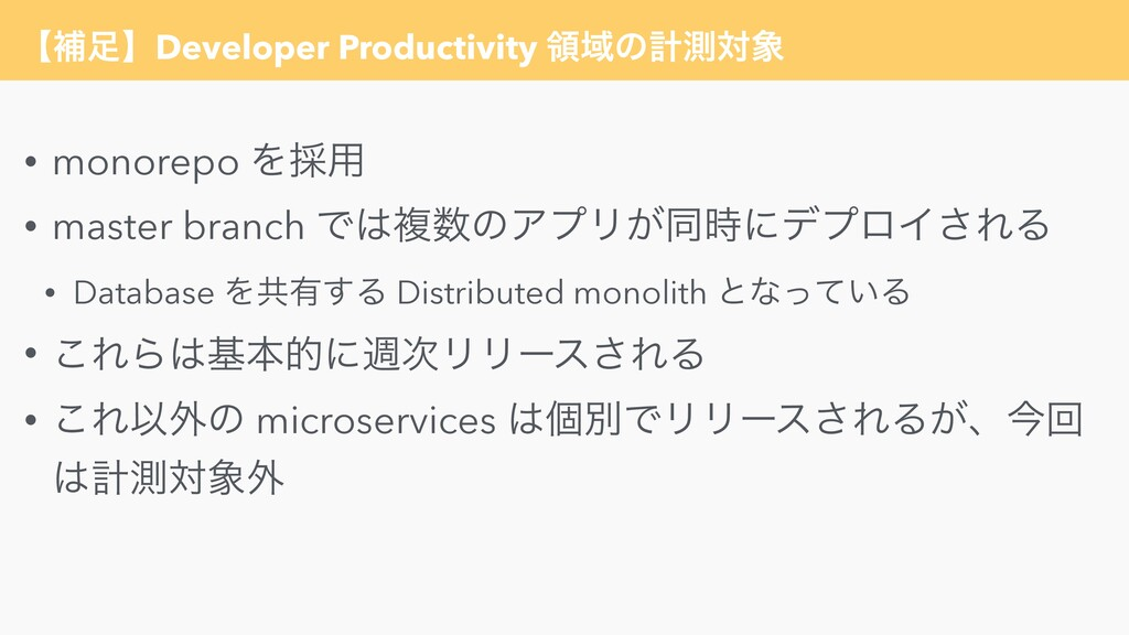 ʲิʳDeveloper Productivity ྖҬͷܭଌର • monorepo Λ...
