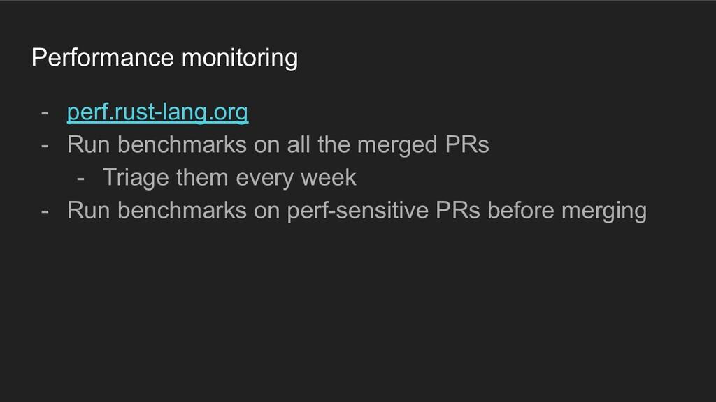 Performance monitoring - perf.rust-lang.org - R...