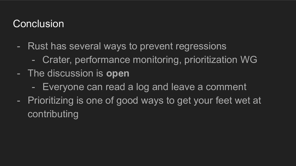 Conclusion - Rust has several ways to prevent r...