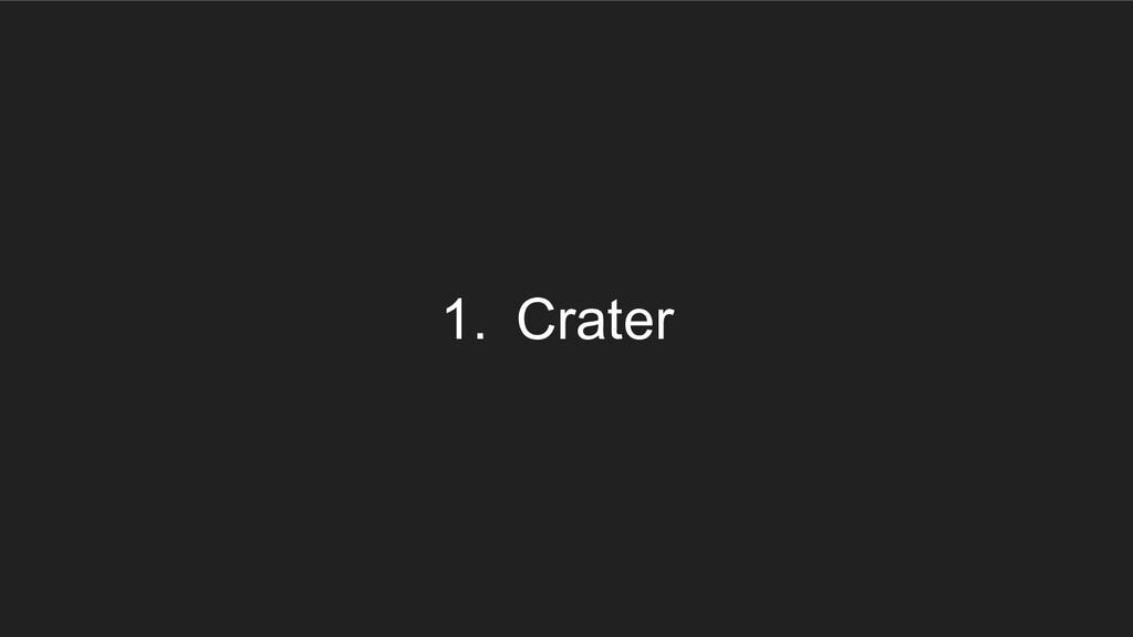 1. Crater
