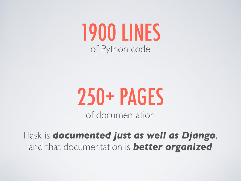 1900 LINES of Python code 250+ PAGES of documen...