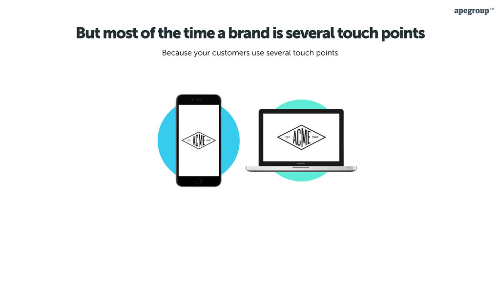 But most of the time a brand is several touch p...