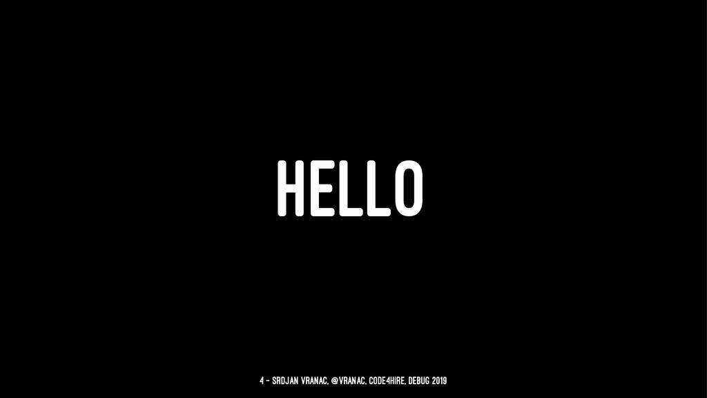HELLO 4 — Srdjan Vranac, @vranac, Code4Hire, De...