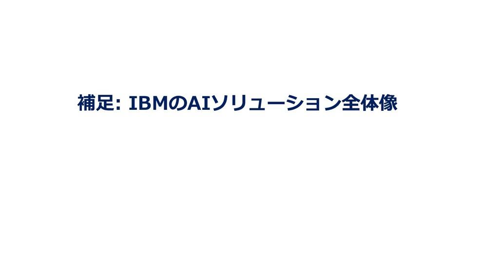 補⾜: IBMのAIソリューション全体像