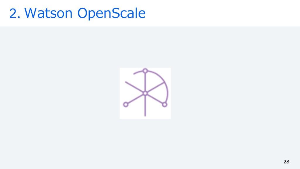2. Watson OpenScale 28