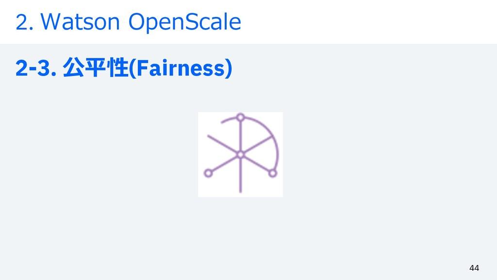2. Watson OpenScale 2-3. 公平性(Fairness) 44