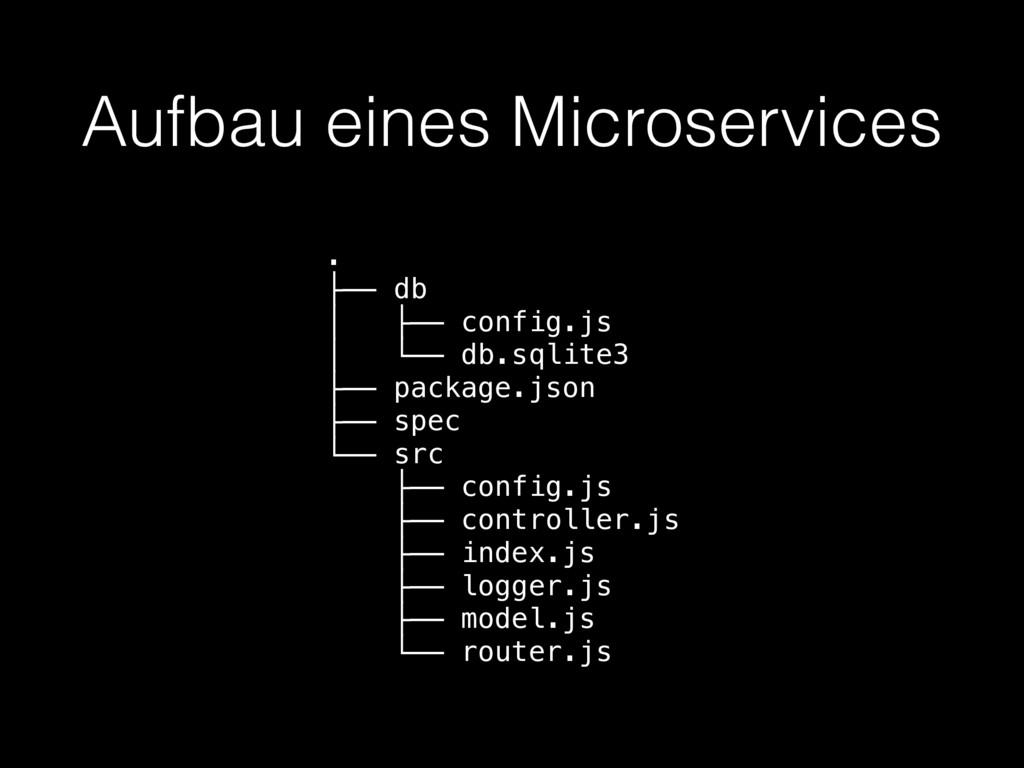 Aufbau eines Microservices . ├── db │ ├── confi...