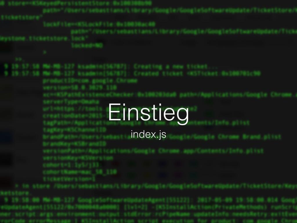 Einstieg index.js