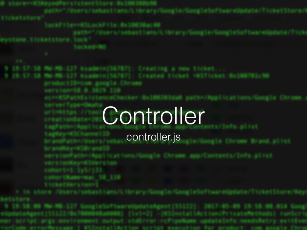 Controller controller.js