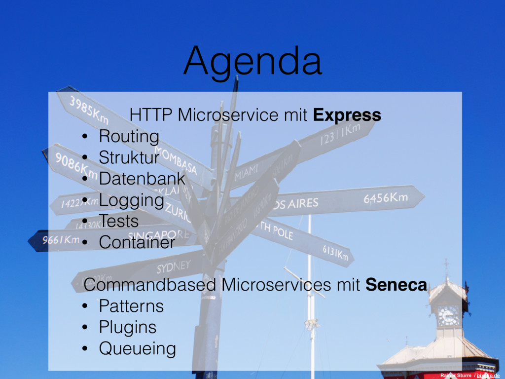 Agenda HTTP Microservice mit Express • Routing ...